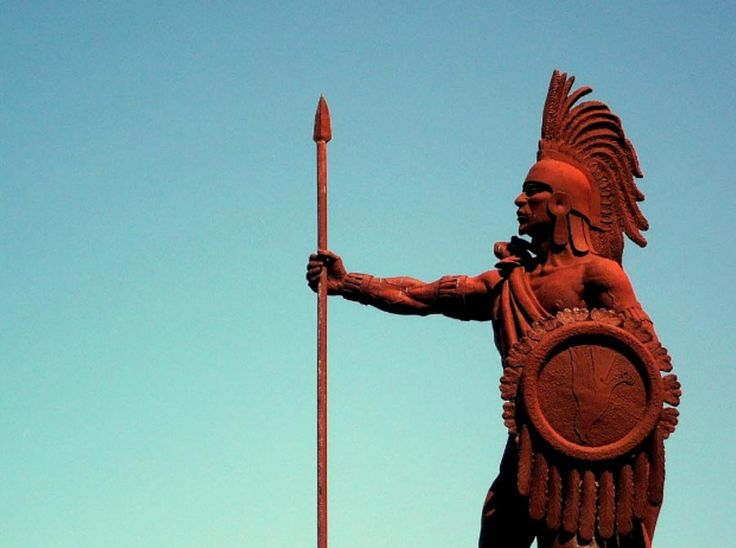 Cuauhtémoc (meaning 'Setting Sun' or 'Descending Eagle') was the 11th Tlatoani (literally meaning 'speaker', but may also be translated as 'king') of Tenochtitlan, and the last ruler of the Aztec Empire. Cuauhtémoc ruled between 1520 and 1521, which was a time when the Spanish conquistadors were on the verge of subduing the Aztec Empire. Cuauhtémoc chose not to surrender to the invaders, but fought fiercely against them.