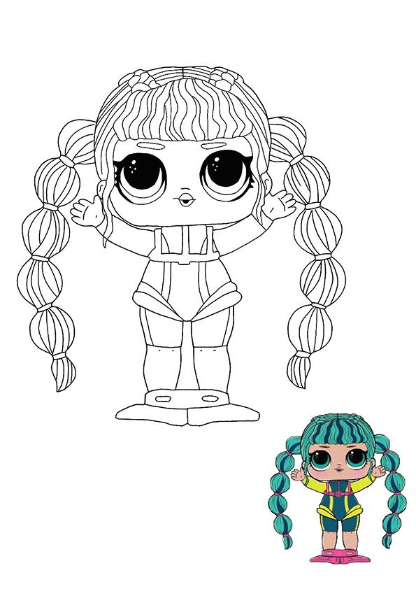 lol surprise hairvibes scuba babe coloring page in 2020
