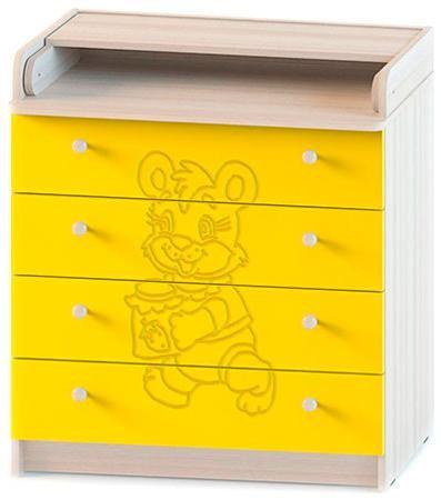 Атон Мебель Комод раскладной мод.кр 80к/4 пвх венге-ваниль мишка- 4 ящика (мишка/ясень шимо светлый - желтый)  — 4063р.  Комод раскладной,модель КР 80К/4 ПВХ венге-ваниль Мишка-4 ящика Материал-МДФ,ПВХ Габариты-высота-93,5 см,ширина-80 см,глубина-45 см Вес-40 кг Основные характеристики: -верхняя крышка раскладывается,что увеличивает площадь поверхности стола -4 вместительных выдвижных ящика -фурнитура обеспечивает надежную работу всех подвижных частей Стильный дизайн идеально подойдет для…