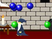 Free Online Puzzle Games, Your lab has been overrun with bubbles and you need to shoot them down before they wreck everything!  In Bubble Panic, use your wand to blast the bubbles as they get close to you!  Watch out because they will break into very small bubbles before you can get rid of them completely!, #bubble #pop #shooter #puzzle