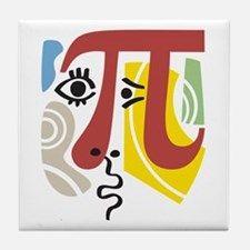 Pi Symbol Pi-casso Tile Coaster for