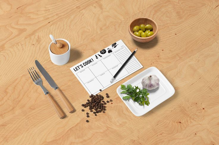 Meal planner A6 - weekly planner, shopping list, meal planner notepad, black and white, bw by Follygraph on Etsy