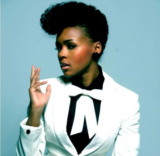 Musician Janelle Monae's puffy pompadour has become her signature natural hairstyle. Very chic and unique!
