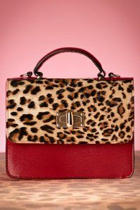 Lulu Hun Handbag in Red and Leopard 01222016 013W