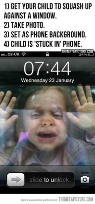 Child is stuck in phone