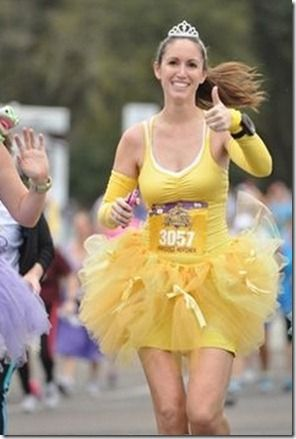 Best Belle running costume I've seen. And a great blog to tell about the experience! Disney Princess Half Marathon