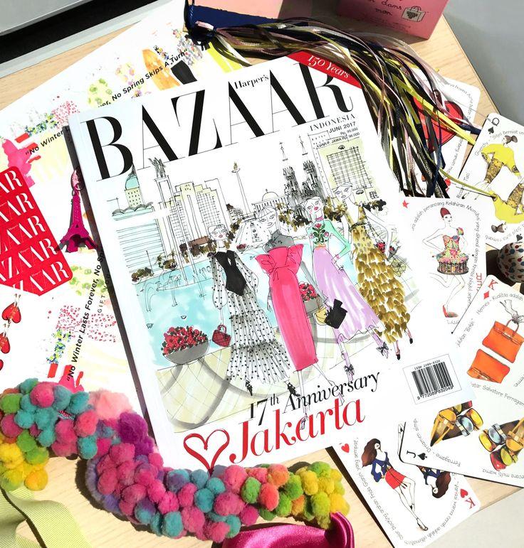 BAZAAR 17th Anniversary Issue, flatlay by michelle othman