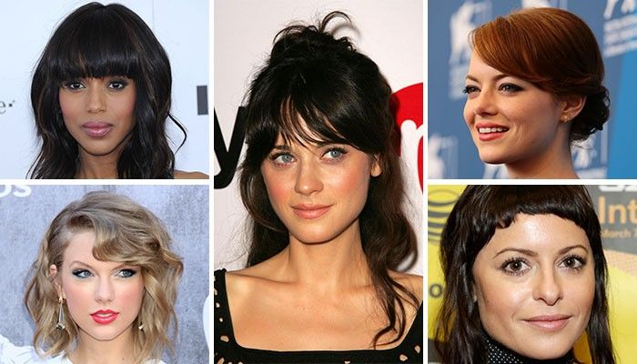Luxury bangs for curly hair. Big forehead