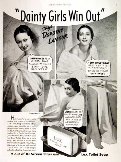 Vintage ads featurning classic celebrities | 1938 Lux Soap original vintage advertisement. Photographed in black ...