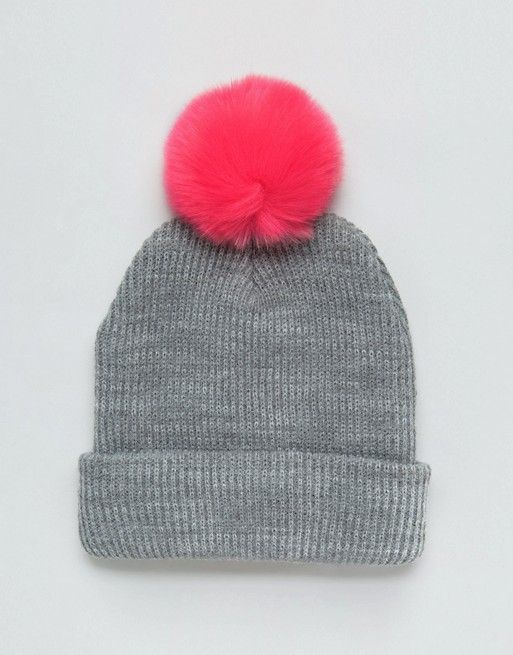 30+ Cool Beanies For The Non-Hat Girl #refinery29  http://www.refinery29.com/cool-beanies#slide-9  ASOS Bright Faux Fur Beanie, $19.50, available at ASOS. ...