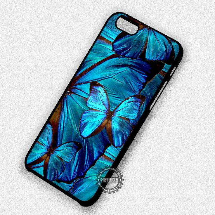 Blue Butterfly Art Pattern - iPhone 7 6s 5c 4s SE Cases & Covers