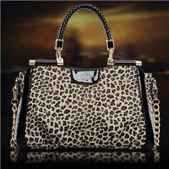 New Arrival Fashion Elegant Leopard Design Lady's Handbags