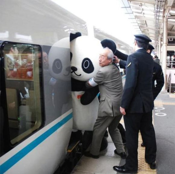 Getting on a train is a whole lot more interesting in Japan.
