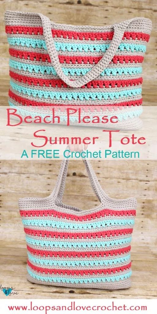 Beach Please Summer Tote – Free Crochet Pattern