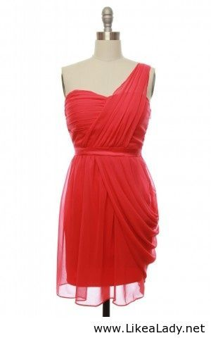 Red bridesmaid dress - LikeaLady.net