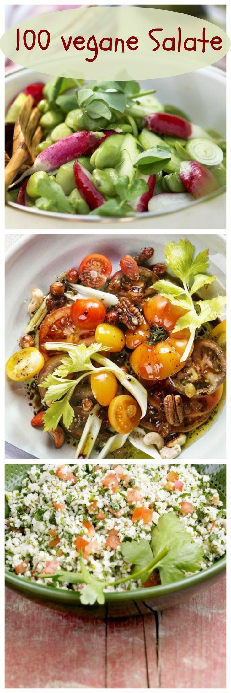 Wir haben für euch 100 leckere Salatrezepte ganz ohne tierische Produkte…