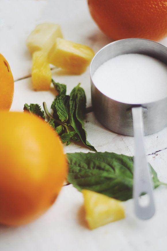 Orange, Pineapple, Mint & Basil Summer Sorbet | Free People Blog # ...