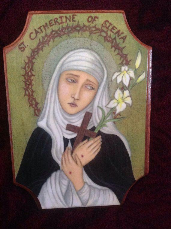Sainte Catherine de Sienne par PerfectJoyPaintings sur Etsy