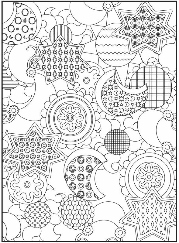 dover publications moons stars coloring page