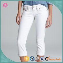Wholesale Dongguan custom fit womens white demin capri pants Best Buy follow this link http://shopingayo.space