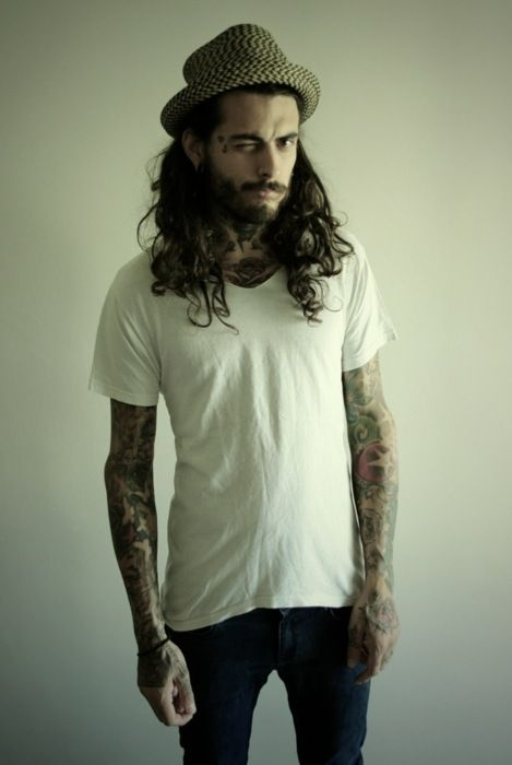 Husband #167? LOLThis Man, Crazy Hair, Dreams Guys, Shorter Hair, Men Haircuts, Long Hair, Hair Tattoo, Ink Tattoo, Heavy Metals
