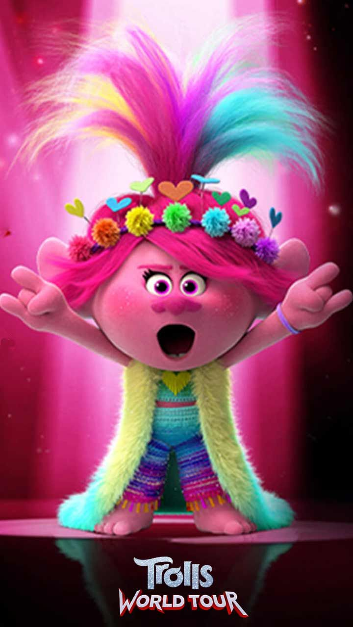 Trolls World Tour Wallpaper Hd Phone Backgrounds Movie Poster Characters For Iphone Android Screen Rainbow Poppy Trolls Birthday Party Trolls Birthday
