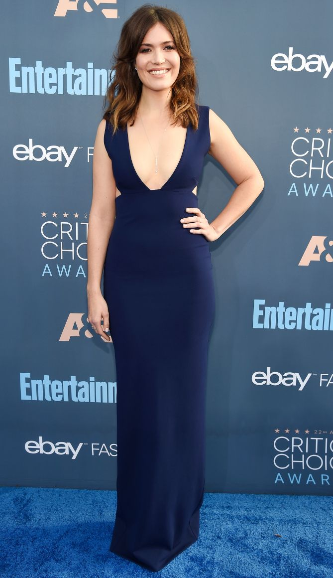 Critics Choice Awards 2016 Best Dressed Stars - - Mandy Moore in a Solace London dress