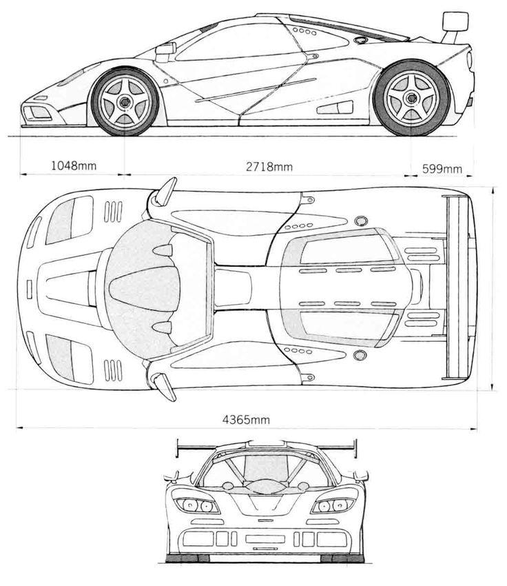 McLaren F1 | BLUEPRINTS,SKETCHES | Pinterest