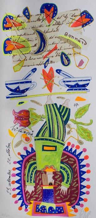 Bilancia, Francesco Musante, Serigrafia polimaterica #gliartistidiGALP #nelsegnodiGALP