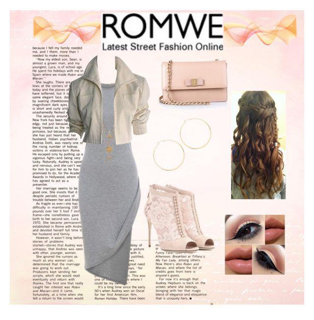 """Romwe- Sleeveless Asymmetrical Dress"" by rnr210209 on Polyvore"