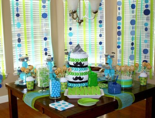boy baby shower ideas great color palette