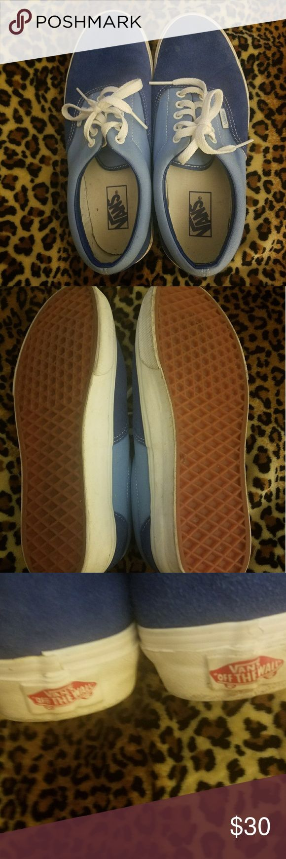 VANS tennis shoes These tennis shoes are lightly used but in great condition. They can be unisex. Men's size 9 and women's size 10.5 Vans Shoes