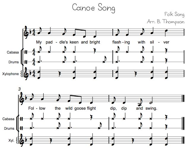 SYNCOPE: Beth's Music Notes: Canoe Song