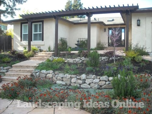 Terraced stone walls retaining walls gallery rustic for Simple terrace garden