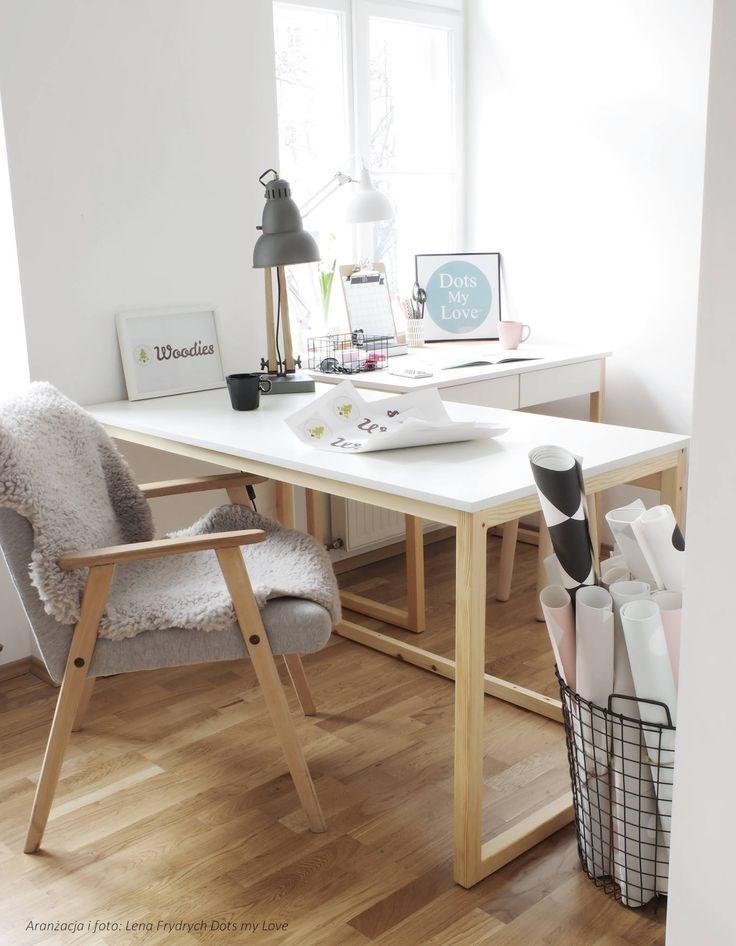white wooden desk.  #simpledesign #womeb #ilovepoland #design #rzeszow #lowprice #ilovesimple