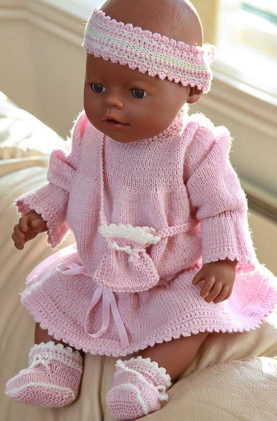 Baby Doll Clothes Knitting Patterns : 952 best images about Baby Born on Pinterest Baby knitting patterns, Baby d...