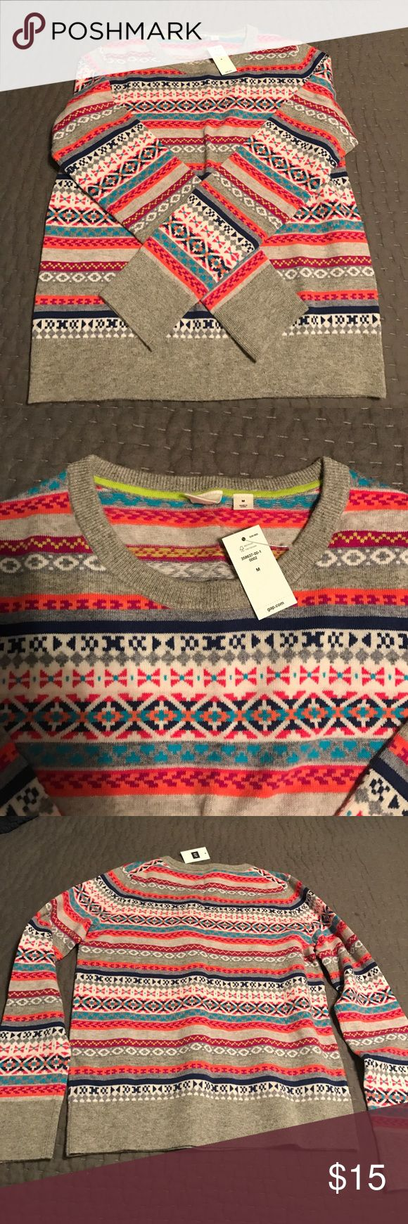 Gap Fair Isle Sweater Crazy Fair isle wool blend sweater! NWT Size M. Super cute!!! A must have for chilly weather ❤ GAP Sweaters Crew & Scoop Necks