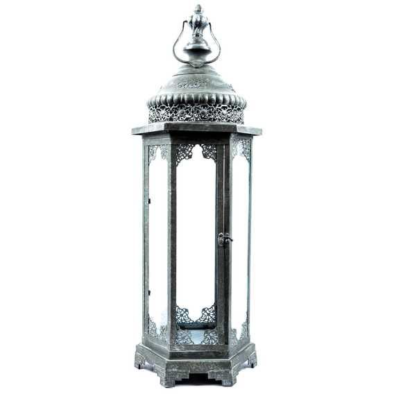 Get Dark Gray Metal & Glass Lantern online or find other Accent Pieces products from HobbyLobby.com