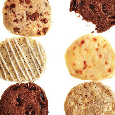 À partir de la recette de base des sablés, on peut faire des biscuits frigidaires.