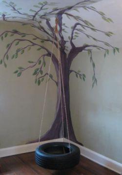 indoor tree house tire swing