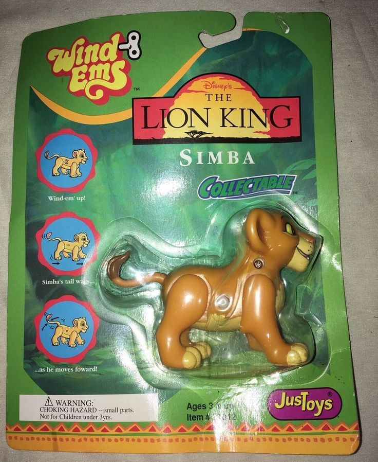 Disney's The Lion King Simba Toy Collectable Wind Ems Toy Mattel Vintage Nos #Mattel