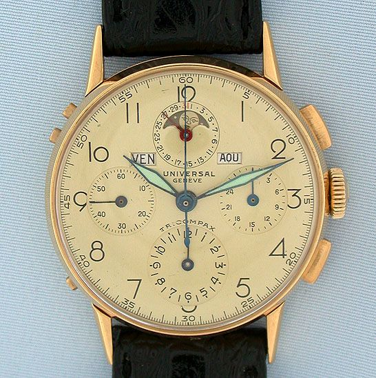 Vintage Wrist Watch - Universal Geneve Tricompax