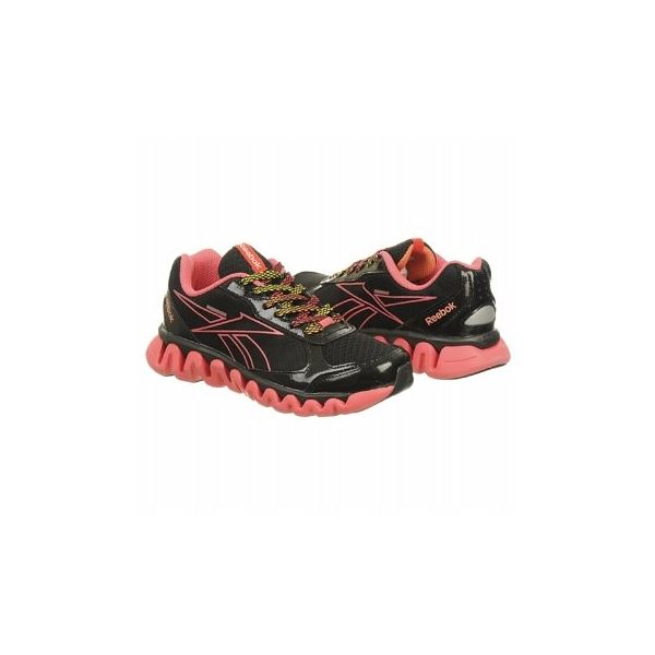 Reebok Kids' Ziglite Rush PS Shoes (Black/Pink/Orange)