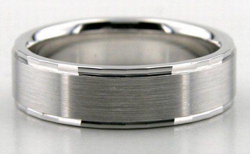 10k white gold mens wedding ring
