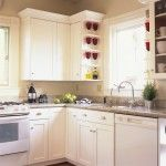Modern Style Kitchen Cabinet Et With Furnish White Paint With Marbel On Top Cabinet