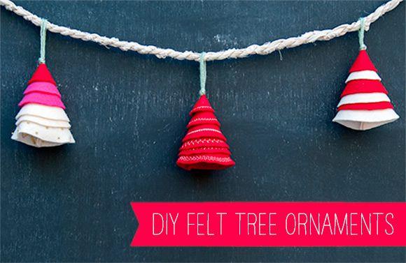 DIY Simple Tree Felt Ornaments