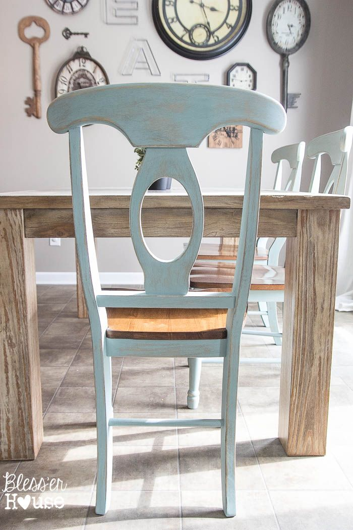 1000 ideas about chalk paint chairs on pinterest for Duck egg blue dining room ideas