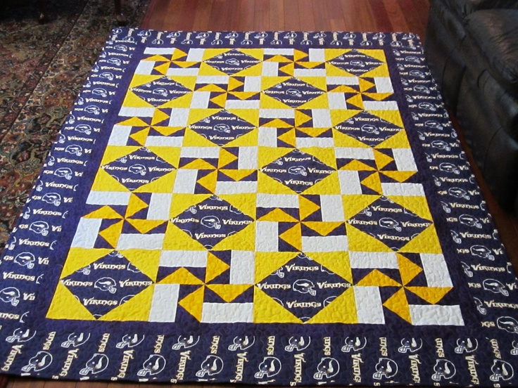 Minnesota Vikings Quilt Queen for Krysta Minnesota ...