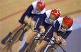 Image detail for -From the Team Pursuit heats at the London leg of the Track World Cup - at the Olympic Velodrome test event.