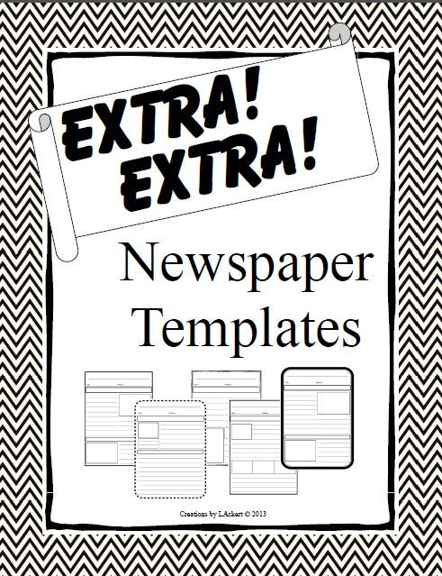 Best Newspaper Template Images On   Teaching Ideas